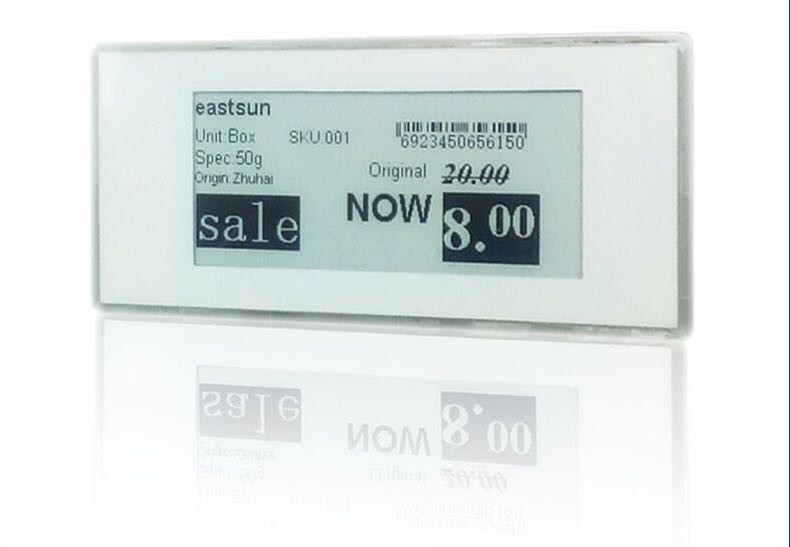 Small Size E Ink Display 2.9 Inches For Supermarkets , Multiple Languages