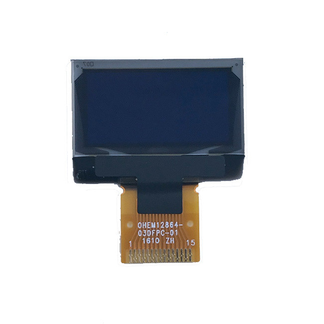 Customized 4 Wire SPI 128x64 Pixels Oled Monochrome Lcd Screen